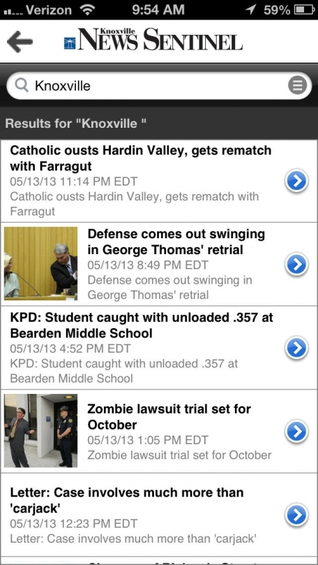 Knoxville News Sentinel for iPhone  - Knoxville, Tenn.