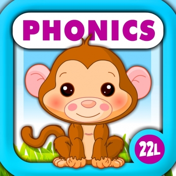 Phonics Island Adventure · Early Reading Montessori Learning School Activities A to Z (Letter Sounds, Alphabet Flash Cards Game, Phonics Quiz & Recognition) with Animals Train for Kids Explorers (Toddler, Preschool and Kindergarten) by Abby Monkey®