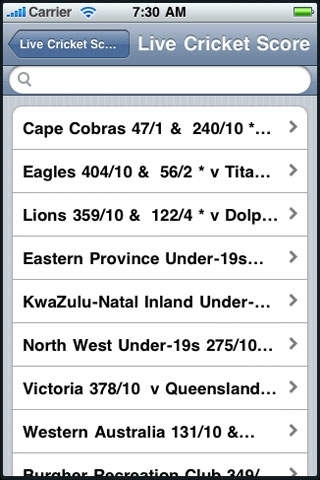 Live Cricket Scores .