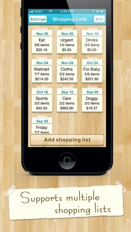 Best Shopping List - Smart Gift, Holiday, Christmas & Food Lists