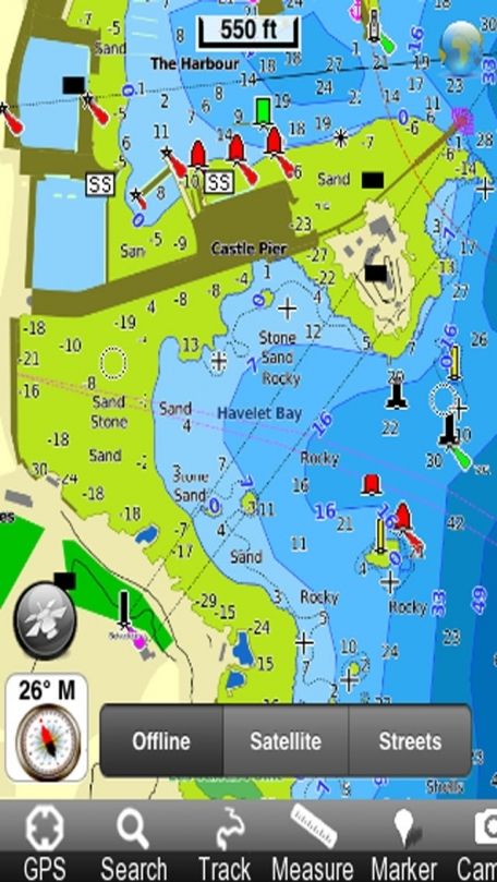 Marine: Channel Islands (UK) - GPS Map Navigator