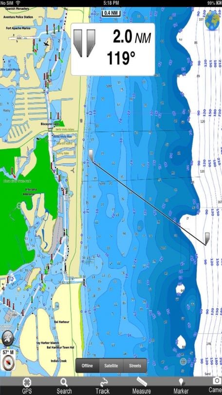 Marine: Florida - GPS Map Navigator
