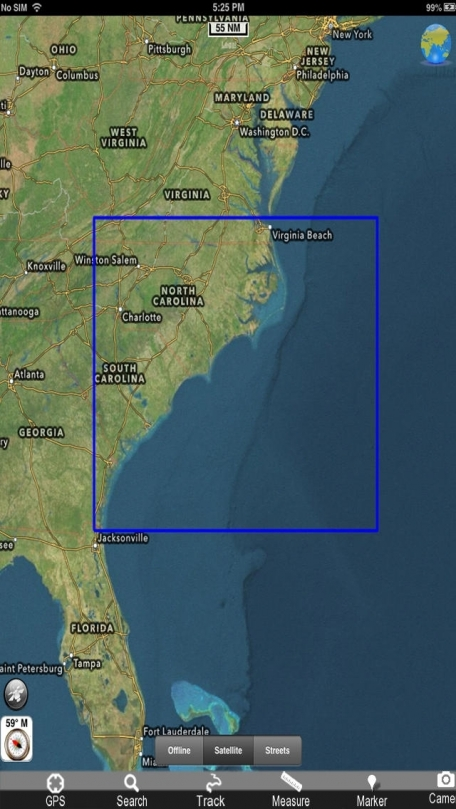 Marine: Georgia South - North Carolina - GPS Map Navigator