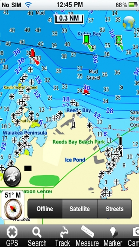 Marine: Hawaii - GPS Map Navigator
