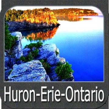 Marine: (Huron-Erie-Ontario) - GPS Map Navigator