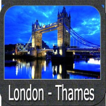 Marine: (London - Thames) - GPS Map Navigator