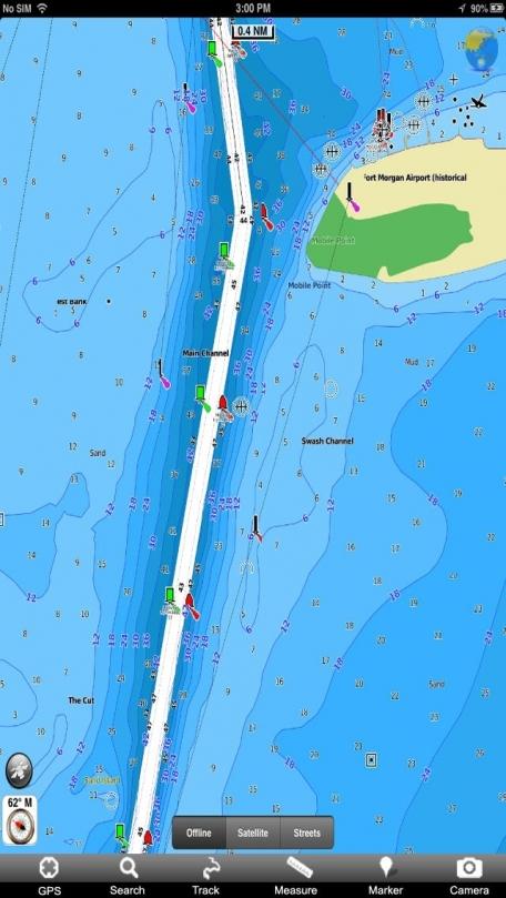 Marine: Louisiana-Mississippi-Alabama - GPS Map Navigator