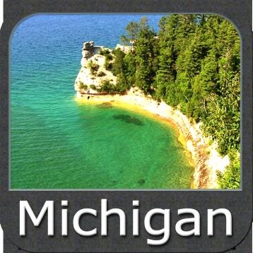Marine: Michigan & Superior Lakes - GPS Map Navigator