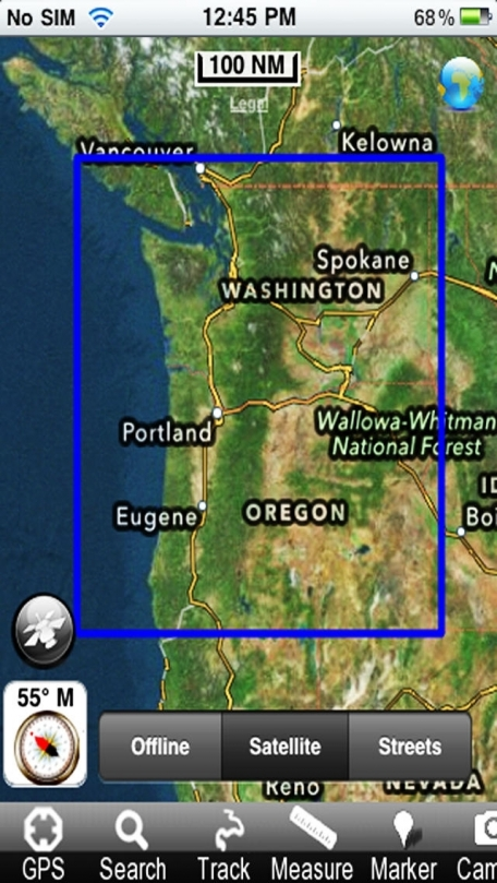 Marine: (Oregon - Washington) - GPS Map Navigator