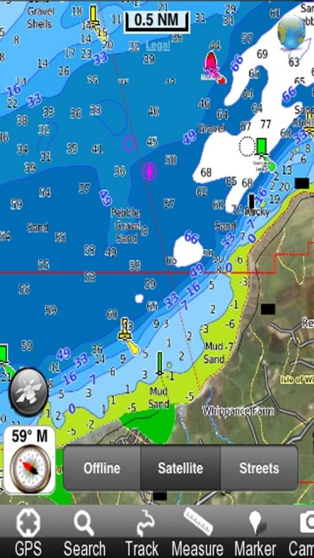 Marine: Solent - GPS Map Navigator