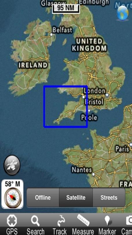 Marine: South West England - GPS Map Navigator