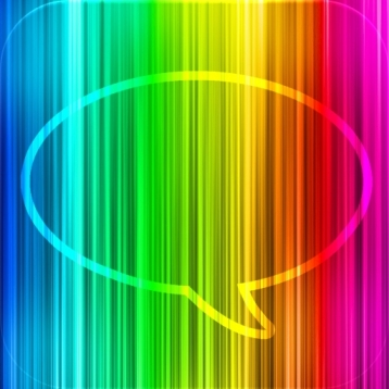 Message Makeover - Colorful Text Message Bubbles