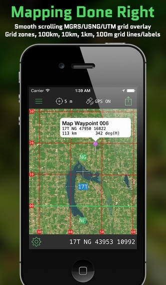 MilGPS - Tactical GPS Navigation and MGRS Grid Tool for Land Nav