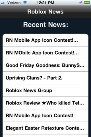 Mobile ROBLOX News