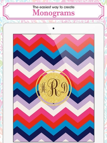 Monogram - Wallpaper & Backgrounds Maker HD DIY with Christmas Glitter Themes