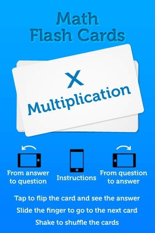 Multiplication - Math Flash Cards
