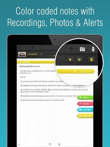 Super Note: Recorder, Notes, Memos, Photos. free.