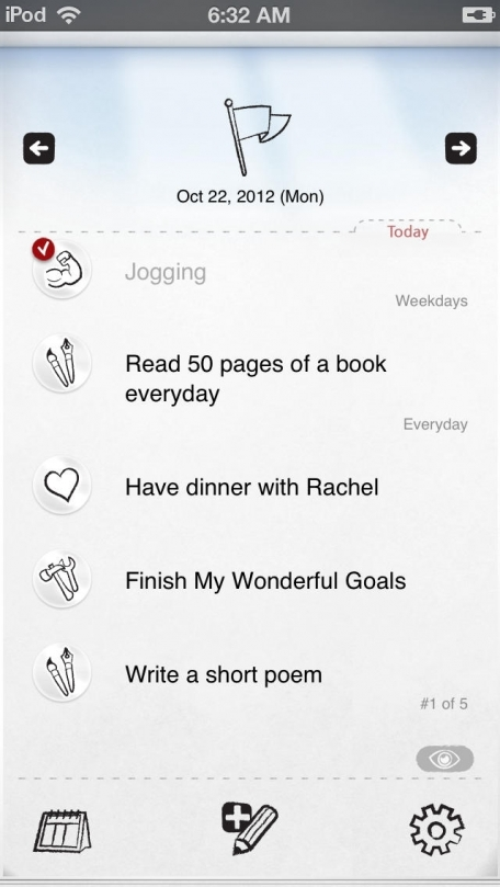My Wonderful Goals Lite * To-do note for my daily life