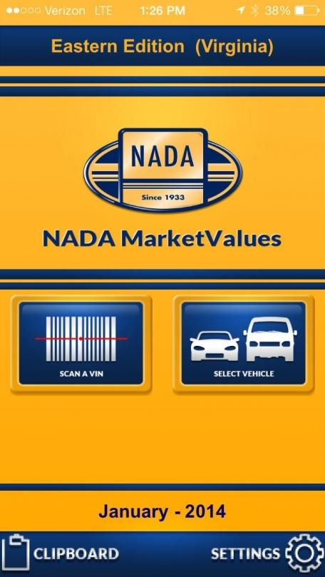 NADA MarketValues