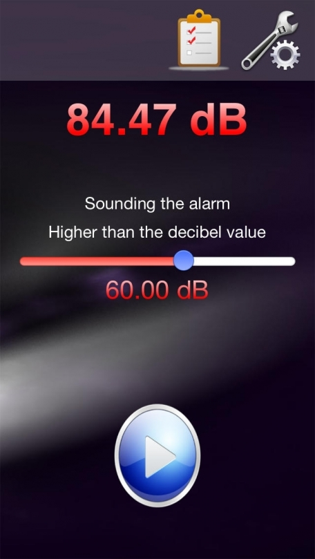 NC Sound alarm - Decibel monitoring alarm