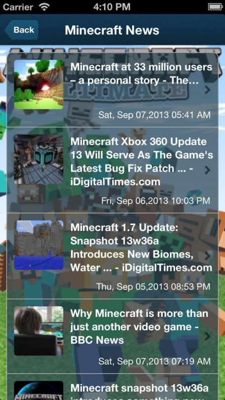 News for Minecraft - Ultimate Edition : Information Guides