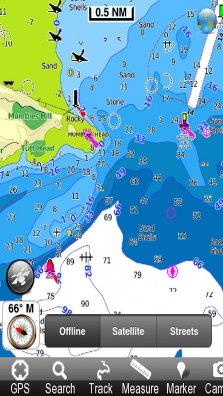 Marine: Wales and West England - GPS Map Navigator