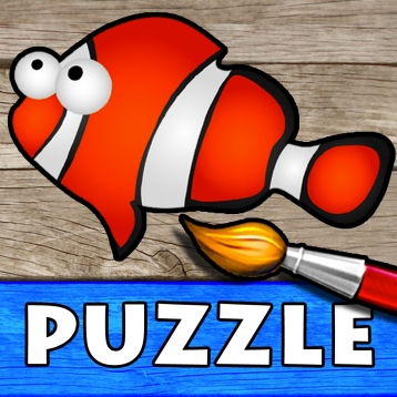 Ocean - Color Your Puzzle and Paint the Sea Fish Drawings - Coloring ...