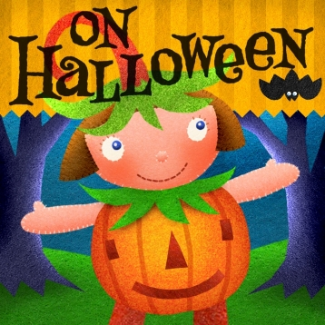 On Halloween - an interactive book for kids
