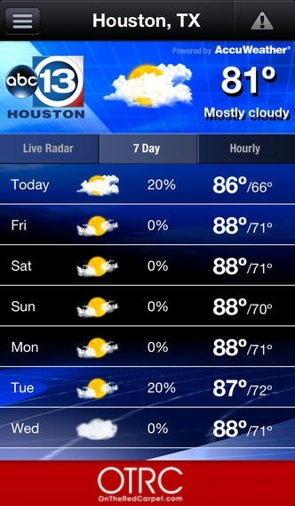 ABC13 Houston Weather Weather App Review (iOS, Free ...