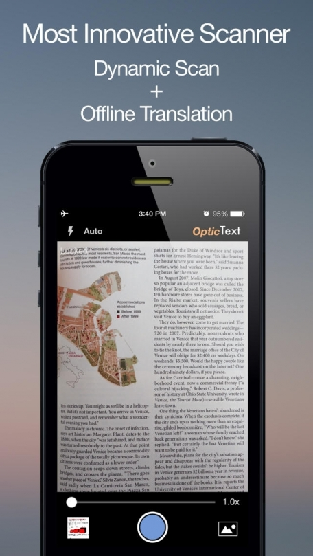 OpticText: Text OCR Scanner + Offline Translator