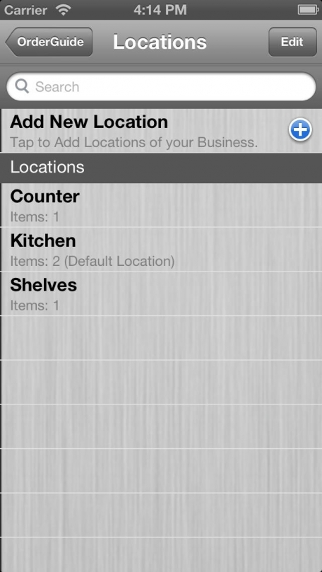 Order Guide - Inventory by Touch