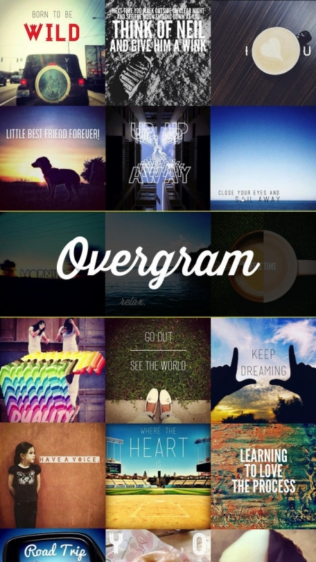Overgram — add text captions to photos and pictures for Instagram
