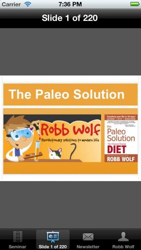 Paleo Solution Seminar