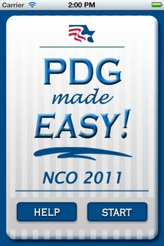PDG Made Easy! - NCO '11