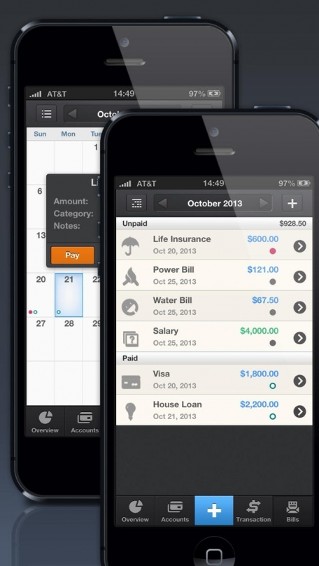 Pocket Expense Personal Finance – Account Tracker, Budget Planner & Bills