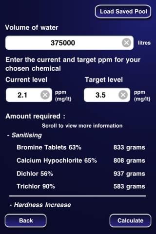 Pool Chemical & Volume Calculator