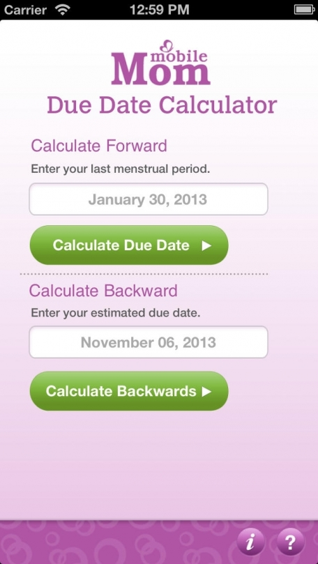 Pregnancy Due Date Calculator Baby Wheel Countdown Calendar