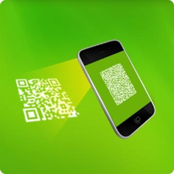 QR Barcode Scanner. Scanning QR Code
