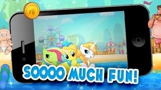 Little Magic Unicorn Dash : My Pretty Pony Princess vs Shark Tornado Attack Game - FREE Multiplayer