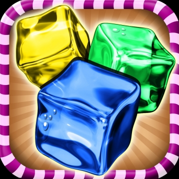 Rainbow Ice Cube Party Tray Stacking Game