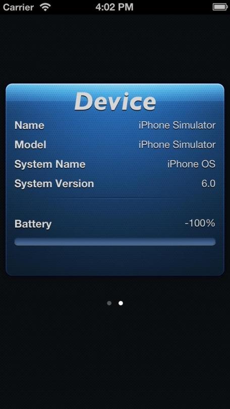 RAM status (