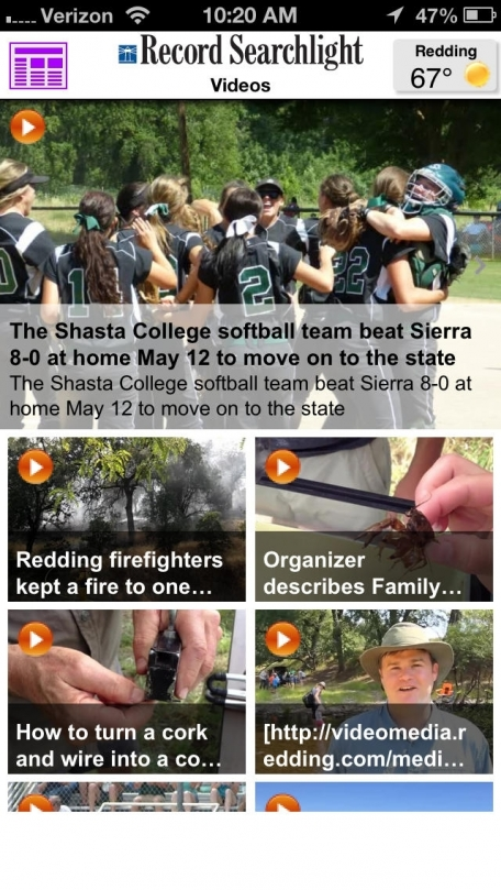 Record Searchlight for iPhone  - Redding, Calif.