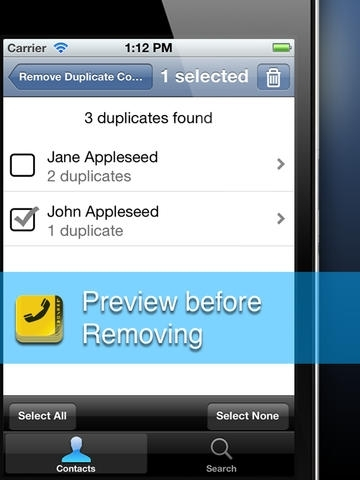 Remove Duplicate Contacts