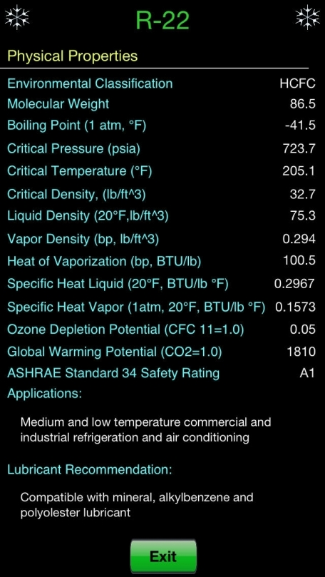 HVAC Refrigerant PT – Industry leading app for Air Conditioning Professionals includes Pressure and Temperature Charts, Bubble Point, Dew Point, A/C Refrigeration Color Codes and Info