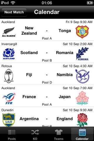 Rugby 2011 - LIVE (Unofficial Application)