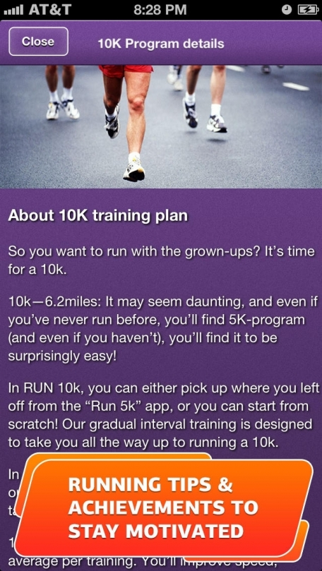 Run a 10K! Training plan, GPS & Running Tips by Red Rock Apps