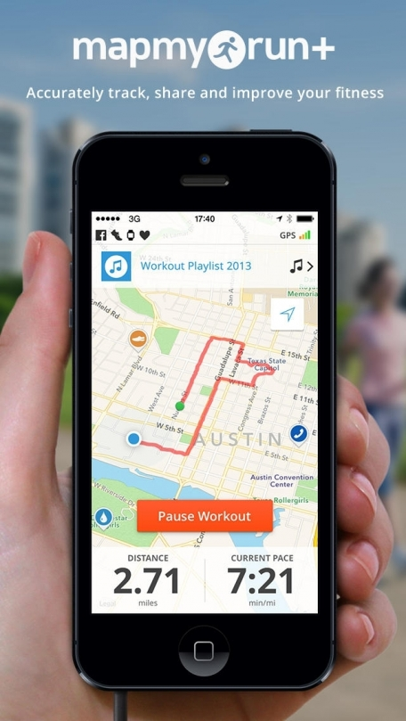 Run with Map My Run - GPS Running, Jog, Walk, Workout Tracking and Calorie Counter