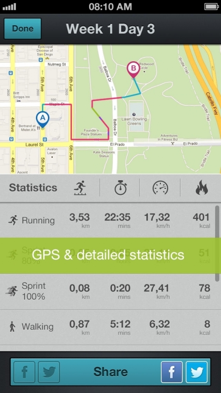 Running for Weight Loss PRO: training plan, GPS, how-to-lose-weight tips by Red Rock Apps