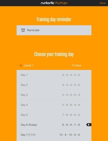 Runtastic Push Ups Trainer PRO