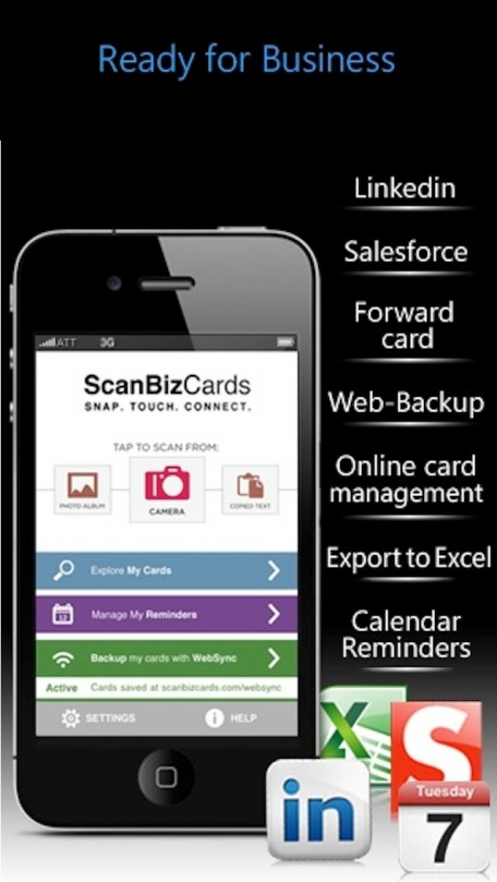 ScanBizCards Business Card Reader